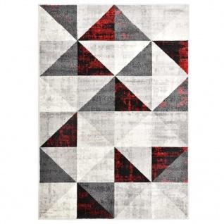 vidaXL Teppich Schwarz und Rot 120 x 170 cm PP