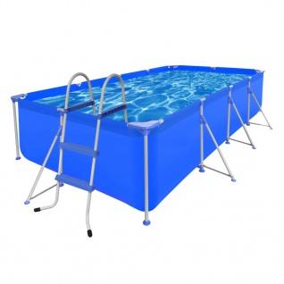 Schwimmanlage Rechteckig 394 x 207 x 80 cm + Leiter