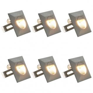 vidaXL Außenwandleuchten 6 Stk. LED 5 W Silbern Quadratisch