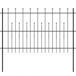 vidaXL Dekorativer Sicherheits-Palidadenzaun Stahl 600×120 cm