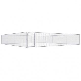 vidaXL Outdoor-Hundezwinger Verzinkter Stahl 6x6x1 m