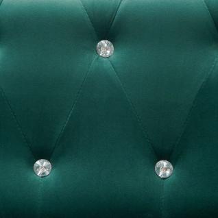 vidaXL Chesterfield Sofa L-förmig Samtbezug 199x142x72 cm Grün - Vorschau 2
