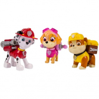 Paw Patrol Action-Pack Welpen Marshall/Skye/Rubble