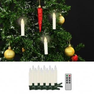 vidaXL Kabellose LED-Kerzen mit Fernbedienung 10 Stk. Warmweiß