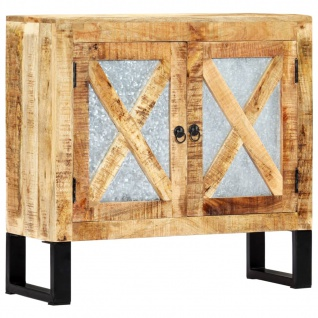 vidaXL Sideboard 80 x 30 x 76 cm Massivholz Mango