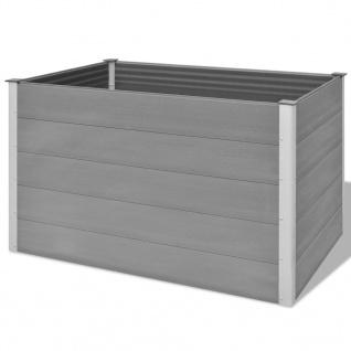 vidaXL Garten-Hochbeet WPC 150x100x91 cm Grau