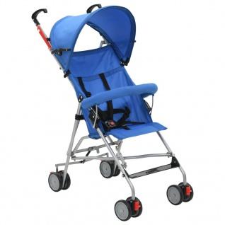 vidaXL Klappbarer Buggy Blau Stahl