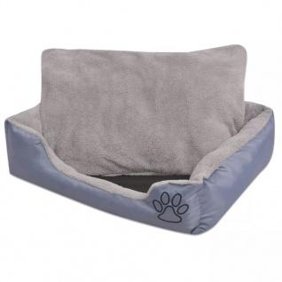 vidaXL Hundebett mit gepolstertem Kissen Größe L Grau