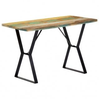 vidaXL Esstisch 120 x 60 x 76 cm Recyceltes Massivholz