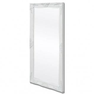 vidaXL Wandspiegel im Barock-Stil 120x60 cm Weiß