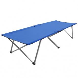 vidaXL Campingbett 206 x 75 x 45 cm XXL Blau