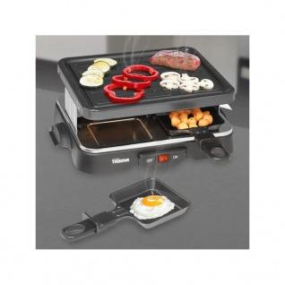 Tristar 4-Personen-Raclette-Grill 500 W 22 x 17, 5 cm Schwarz