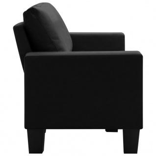 vidaXL 3-Sitzer-Sofa Schwarz Stoff - Vorschau 5
