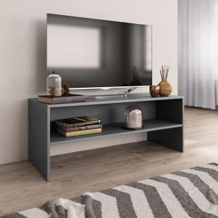 vidaXL TV-Schrank Grau 100 x 40 x 40 cm Spanplatte