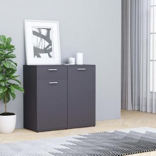 vidaXL Sideboard Grau 80×36×75 cm Spanplatte