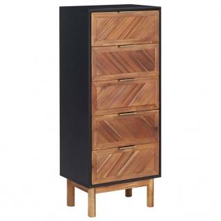 vidaXL Sideboard 45x32x115 cm Akazie Massivholz und MDF