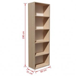 vidaXL Bücherregal Spanplatte 60x31x190 cm Eiche-Optik - Vorschau 5