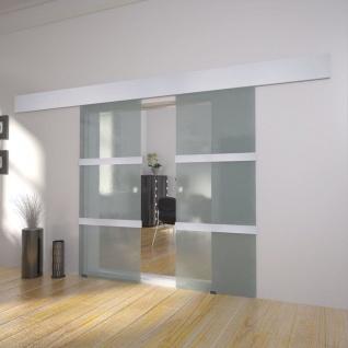 vidaXL Doppelschiebetür Glas