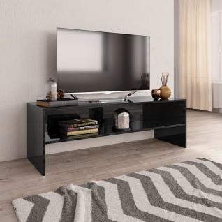 vidaXL TV-Schrank Hochglanz-Schwarz 120 x 40 x 40 cm Spanplatte