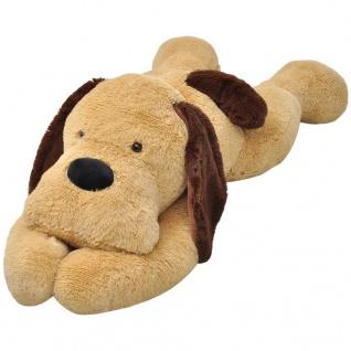 vidaXL Hund Stofftier Plüsch Braun 80 cm - Vorschau 1
