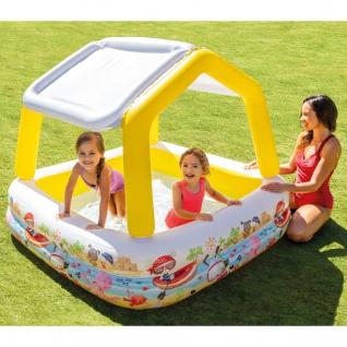 Intex Aufblasbarer Pool mit Sonnenschutz 157x157x122 cm