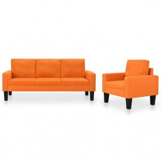 vidaXL Sofagarnitur 2-tlg. Stoff Orange