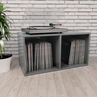 vidaXL Schallplatten-Aufbewahrungsbox Hochglanz-Grau 71ß34ß36cm