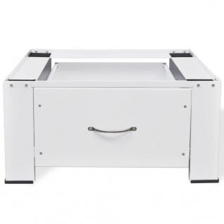 vidaXL Waschmaschinensockel mit Schublade Weiß - Vorschau 4