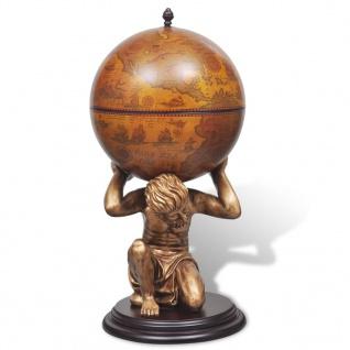 vidaXL Globus-Bar Atlas 42×42×85 cm - Vorschau 3