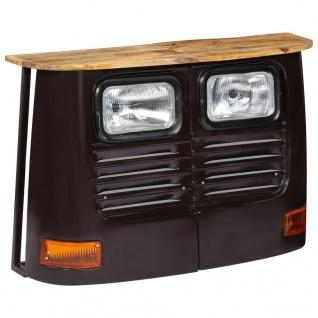 vidaXL LKW-Sideboard Mangoholz Massiv Dunkelgrau