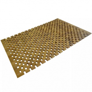 vidaXL Badematte Akazienholz 80x50 cm Mosaik