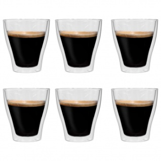 vidaXL Doppelwandige Latte-Macchiato-Gläser 6 Stk. 280 ml