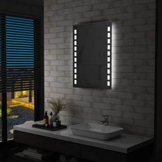 vidaXL Badezimmer-Wandspiegel mit LED 60 x 80 cm