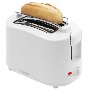 Bestron Toaster mit Brötchenwärmer AYT600 750 W Weiß - Vorschau 3