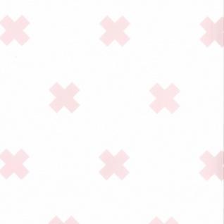 Fabulous World Tapete Cross Weiß und Rosa 67104-3