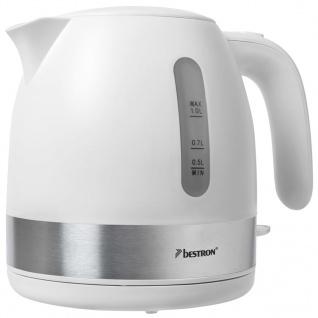 Bestron Elektrischer Wasserkocher 2150 W 1 L Weiß AWK1000W