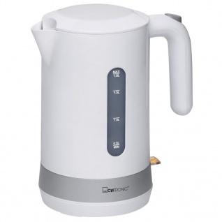 Clatronic Wasserkocher 1, 8 L Weiß WK 3452 - Vorschau 2