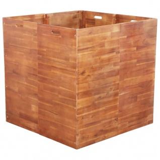 vidaXL Garten-Hochbeet Akazienholz 100x100x100 cm