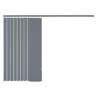 vidaXL Vertikale Jalousien Grau Stoff 120x250 cm - Vorschau 5