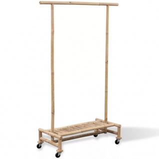 Bambus Kleiderständer Kleiderregal Kleiderstange