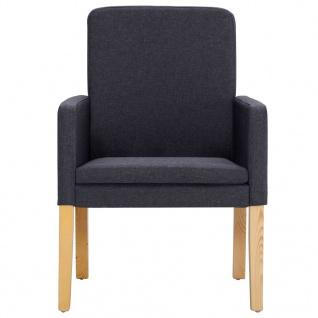 vidaXL Esszimmerstühle 4 Stk. Dunkelgrau Stoff - Vorschau 4