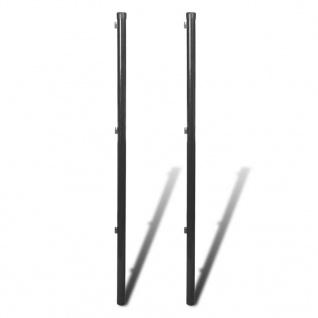 vidaXL Zaunpfahl für Maschendrahtzaun 2 Stück 115 cm Grau