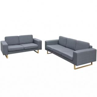 vidaXL 2-Sitzer und 3-Sitzer Sofa Set Hellgrau