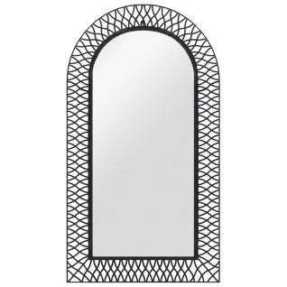 vidaXL Wandspiegel gewölbt 60 x 110 cm Schwarz