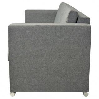 vidaXL 3-Sitzer Sofa Stoff Hellgrau - Vorschau 5