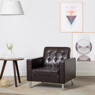 vidaXL Sessel Kunstleder-Polster Braun 75 x 70 x 75 cm