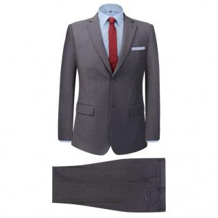 vidaXL 2-tlg. Business-Anzug für Herren Grau Gr. 48