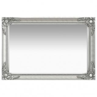 vidaXL Wandspiegel im Barock-Stil 60 x 40 cm Silbern