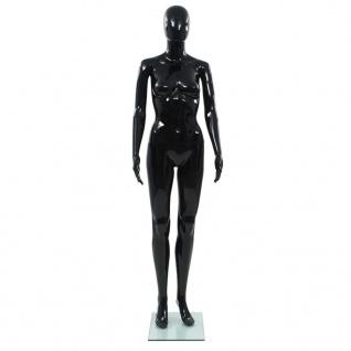 vidaXL Weibliche Schaufensterpuppe mit Glassockel Schwarz 175 cm - Vorschau 3