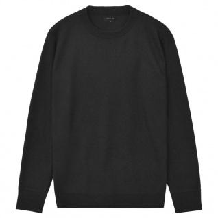 vidaXL Herren Pullover Sweater Rundhals Schwarz XL